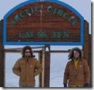 Eric and Steve at the Arctic Circle